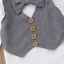 NEW Baby Boys Bow Tie Vest Suit Long Sleeve Bodysuit Outfit Set Easter