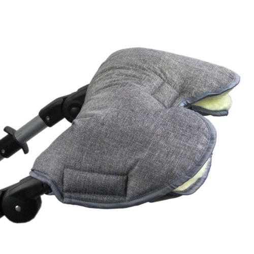 BAMBINIWELT Kinderwagen Muff Kinderwagenhandschuh Handwärmer MELIERT Wolle