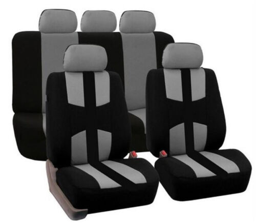 Universal Polyester Black Red Car Seat Cover Car Full Styling ...