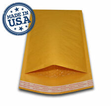 "500 #000 4x8 KRAFT BUBBLE PADDED MAILERS SHIPPING SELF SEAL ENVELOPES 4"" x 8"""