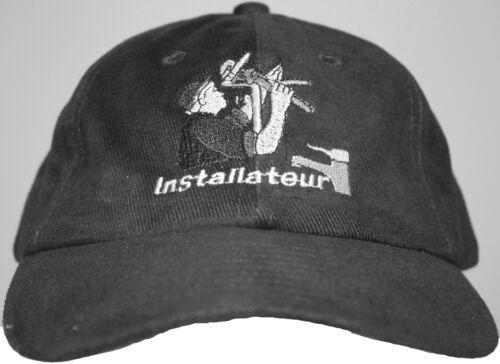 Baseballcap Cap Kappe Schirmmuetze mit Stick Handwerk Beruf  Installateur 68616