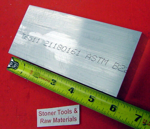 """4 Pieces 1/"""" X 3/"""" ALUMINUM 6061 FLAT BAR 6/"""" long T6511 Solid NEW Mill Plate Stock"""