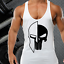 SKULL OF SPARTAN GYM VEST STRINGER BODYBUILDING MUSCLE TRAINING FITNESS SINGLET