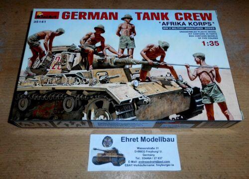 WWII German Tank Crew DAK  Africa Korps 5 Figuren 1:35 MiniArt 35141
