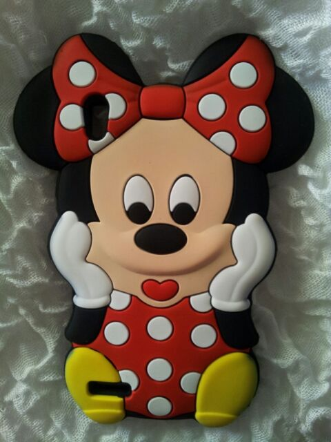Silicone Cover per cellulari MINNIE RED para HUAWEI ASCEND P6