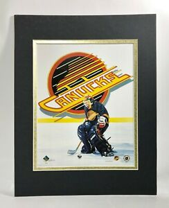 Vancouver Canucks Hockey 1995 Goalie MATTED 11X14 Lithograph by Kelly Russell