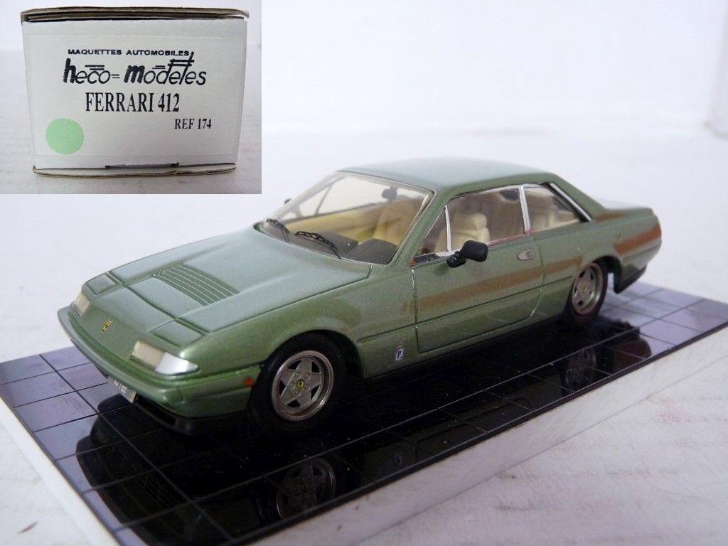 Heco 174 1 43 1985 Ferrari 412 Handmade Resin Model Car