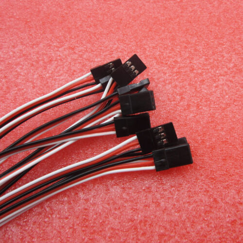 3Pin Male to Female Airplane Servo Extension Cord Cable 50cm Length 10Pcs