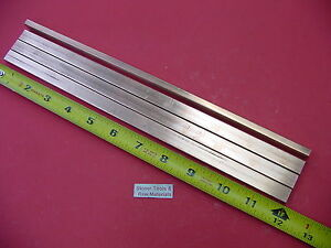 """1/""""x 1/"""" C110 COPPER SQUARE 12/"""" long H04 Solid CU New Mill Bus Bar Stock"""