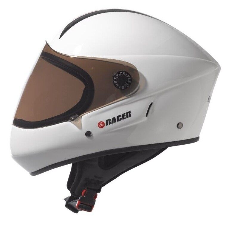 NEW Triple 8 Downhill Racer Helmet Gloss with EPS Liner