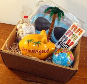 Geldgeschenk Urlaub Geschenkkorb Urlaubskasse Geschenke Urlaubsreise ...