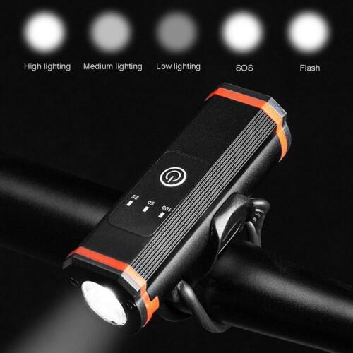MTB Bike Charging Luz delantera Faros Linterna Accesorios para equipos de