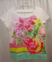 Women's Lands End Floral T Shirt Large