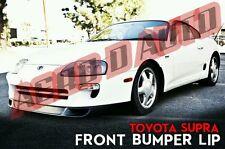 Item 7 93 98 Toyota Supra Front Bumper Lip Splitter V2 Type   2JZ   Plastic    JDM   NEW  93 98 Toyota Supra Front Bumper Lip Splitter V2 Type   2JZ ...