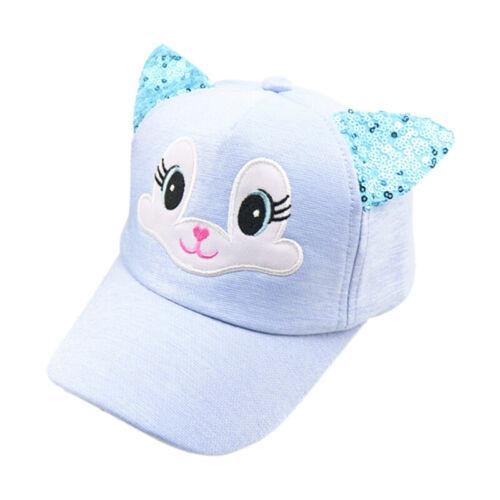 Baby Kids Little Girls Baseball Cap Snapback Adjustable Outdoor Cute Cat Ear Hat