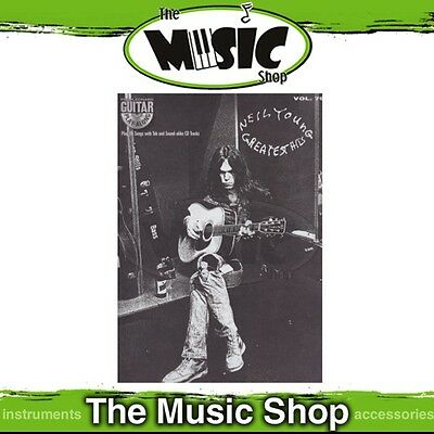 Neil Young Greatest Hits Guitar Play-Along TAB Music Book with Audio Vol 79