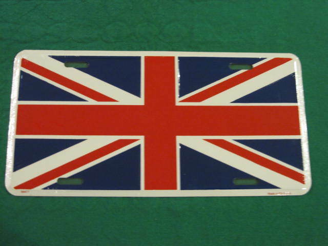 UNION JACK GREAT BRITAIN FLAG Chrome Heavy Duty Metal KING License Plate Frame
