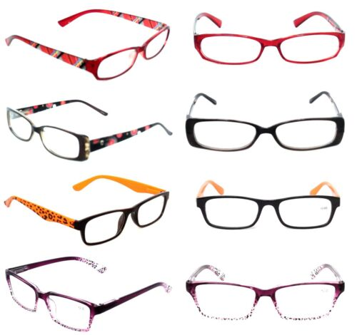 CLOSEOUT WHOLESALE LOT 6 WOMEN OPTICAL READING GLASSES  ASST LADIES 2.50 LR3530