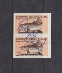 Details about State Hunting/Fishing Revenues - CA - 1958 Fishing License  ($1) - Used - Pair