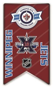 2020 - 2021 NHL WINNIPEG JETS 10TH ANNIVERSARY PIN BANNER STYLE STANLEY CUP