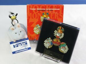 Pocket-Monsters-Pokemon-3rd-Anniversary-Memorial-Pin-Set-Limited-Edition-4000ex