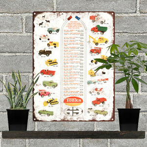 1963-Tonka-Toy-Metal-Truck-Wrecker-Tow-Shop-Mancave-Metal-Sign-Repro-9x12-034-60379