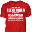 T-Shirt-Elektriker-Dummheit-Lustig-Geschenk-Spruch-Handwerker-Baustelle Indexbild 13