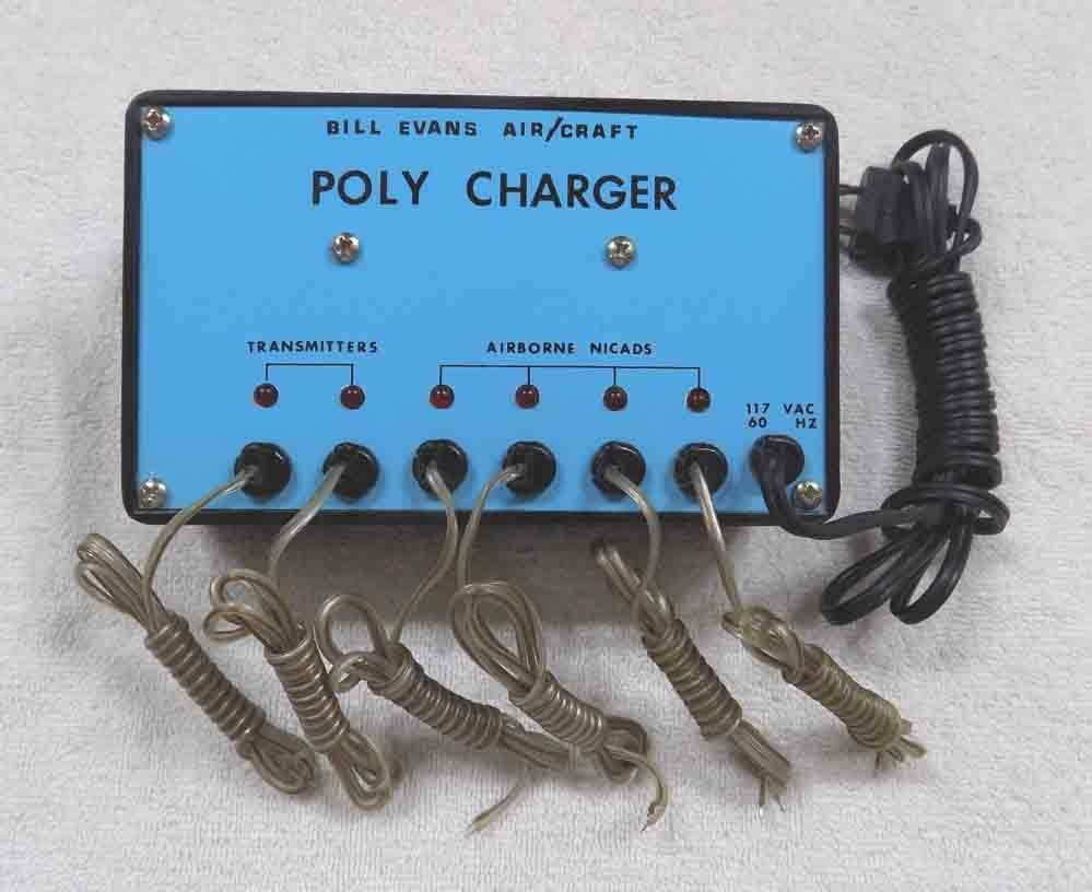 Vintage Bill Evans Air Craft 6 Station POLY CHARGER RC RC RC 9VDC NiCad Battery 28f125