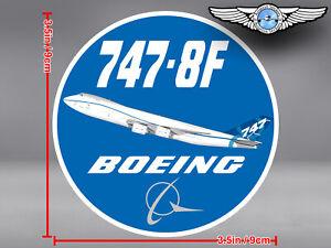BOEING 747-8F B747 8F ROUND DECAL / STICKER