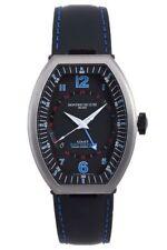 Montres De Luxe Men's EXN 9601 Estremo Titanium Blue Lizard Leather Date Watch