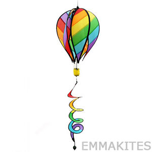 "Large 51"" Hot Air Balloon Wind Spinner Wind Art Tail Outdoor Garden Decor"