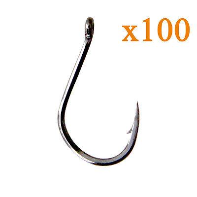 HOT 100 Packs Iseama Ringed Sharpened Fishing Hooks Terminal Tackle All Sizes