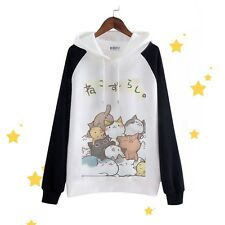 Game Neko Atsume Cute Cat Cosplay Hoodies Unisex Long Sleeve Hooded Sweatshirt