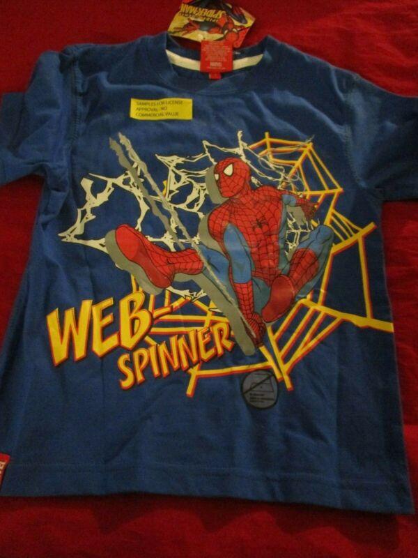 Marvel Boys Web Spinner Spider Man T-shirt Boys Size 4 Cotton