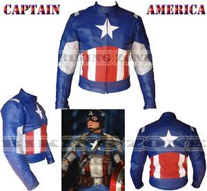 captain america stile uomo ce armours moto giubbotto moto in pelle ebay. Black Bedroom Furniture Sets. Home Design Ideas