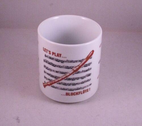 Kaffeebecher  Becher Tasse Henkelbecher Blockflöte Noten Musik