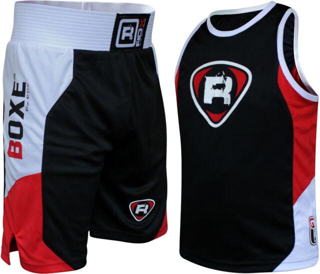 RDX Boxing Gym Vest & Shorts Set Suit MMA Muay Thai Mens UFC Wear Rash Guard Top