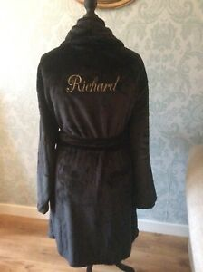 Luxury Mens Personalised Dressing Gown Ebay