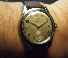 OMEGA '40 VINTAGE MEN SIZE - RARE CAL.410 - ALL S. STEEL PATENT CASE - SWISS
