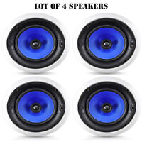 Lot Of 4 Pyle Home 300 Watt High End 8-inch Two Way In-ceiling Speaker System on sale