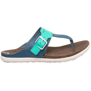86d4796585bd Image is loading NEW-Merrell-Around-Town-Thong-Buckle-Sandals-Blue-