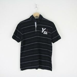 b908fca9a65 Mens Vintage 90s Yves Saint Laurent Spell Out YSL Polo Shirt L ...
