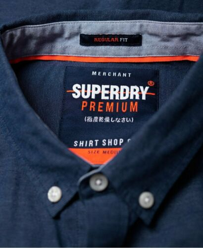 Premium Maillot University Blue Mens Superdry Tailles French m Xxxl Oxford x7wg4