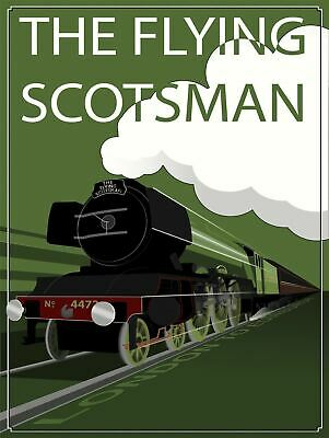London Edinburgh The Flying Scotsman Train portrait Metal Sign Great Gift