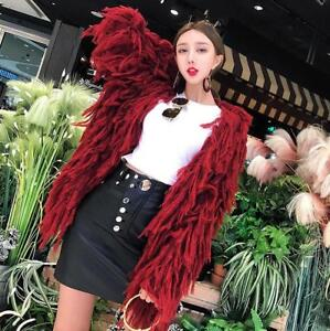 Fringe Loose Kvinders Fit T8 Weave Tassels Overtøj Europe Kintted Coats Cardigan OaRwaSqd