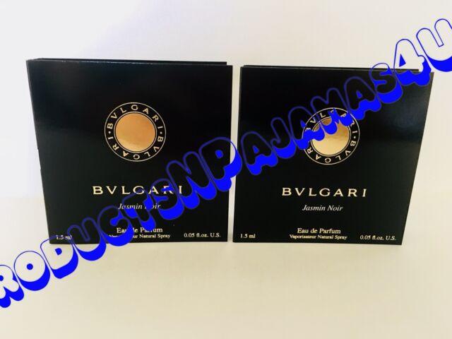 LOT of 2~ Bvlgari JASMIN NOIR Eau de Parfum .05oz/1.5ml CARDED SAMPLES Free Ship