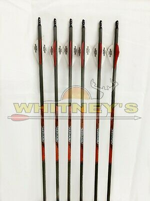 Target 350//.003-6 Pk Black Eagle Archery Carnivore Arrows for Bow Hunting