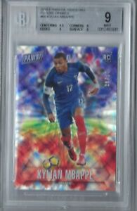 KYLIAN-MBAPPE-2018-PANINI-FATHER-039-S-DAY-FUTURE-FRAMES-RC-50-BGS-9-MINT