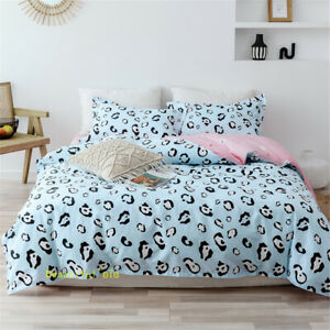 Black And Blue Dots Single/Queen/King/Double Bed Quilt/Doona/Duvet Cover Set