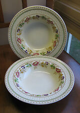 "ENOCH WOODS BURSLEM ENGLAND~ BRIER ~ 8"" Rimmed Soup Bowl LOT 2 Near Mint"